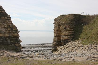 gap in cliff