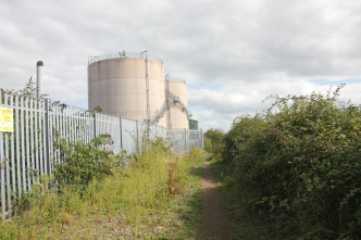 fence-around-sewage-works