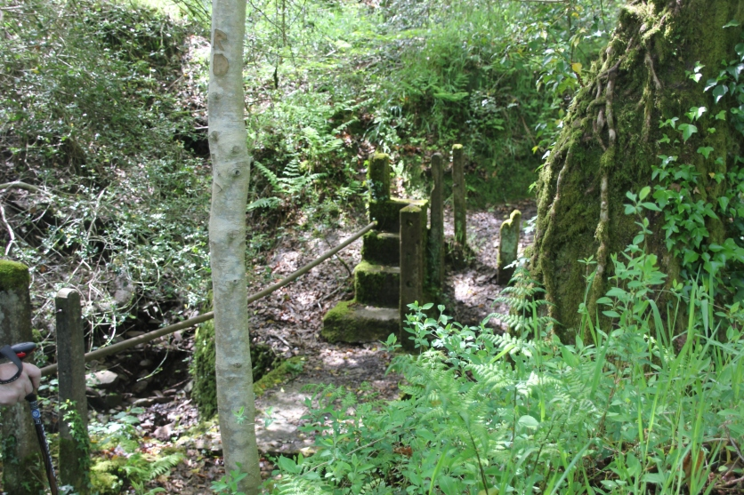 Concrete foot-bridge Brynna